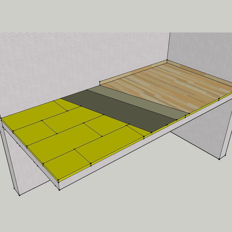 isolation laine de roche des planchers et plafonds. Black Bedroom Furniture Sets. Home Design Ideas