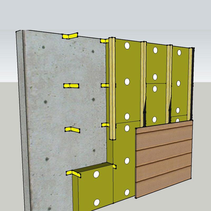 isolation des murs par l 39 ext rieur ite en laine de roche. Black Bedroom Furniture Sets. Home Design Ideas
