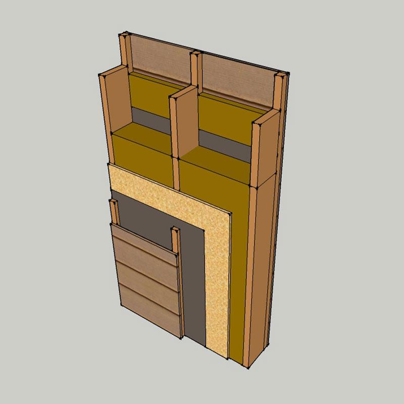 isolation laine de roche des murs maisons ossature bois. Black Bedroom Furniture Sets. Home Design Ideas