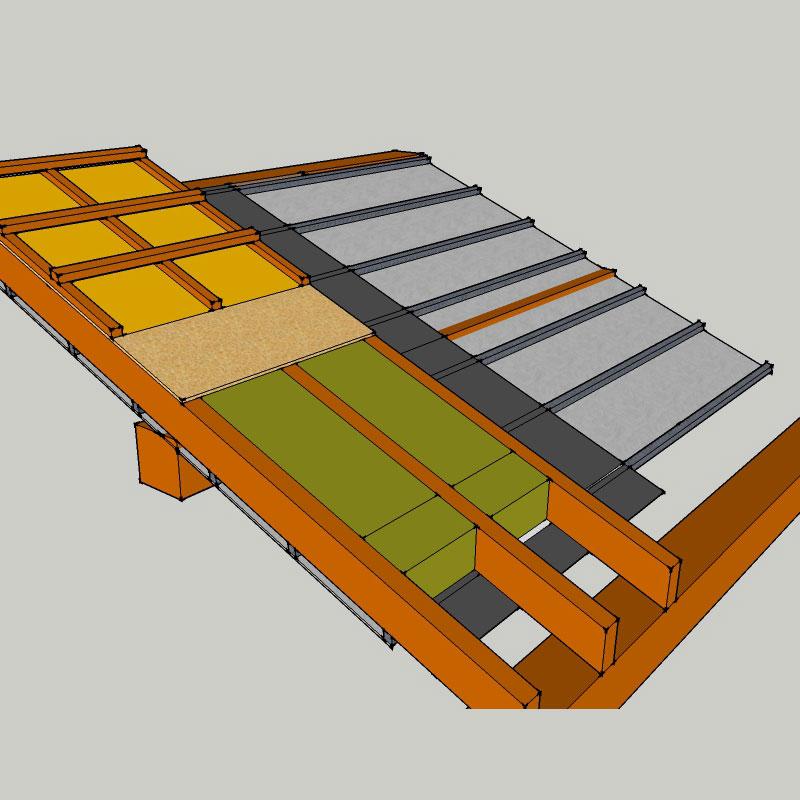 isolation laine de roche des toitures en pente et combles. Black Bedroom Furniture Sets. Home Design Ideas